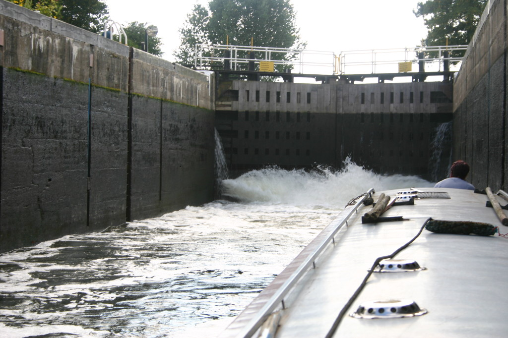 All Paddles Open with the boat the back of the lock. DO NOT try this at home