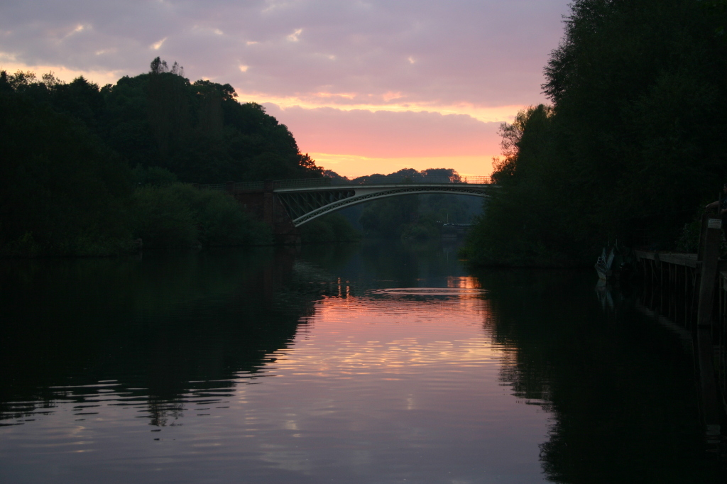 Holt Fleet Bridge at Sunset