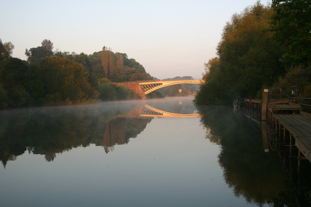 Holt Fleet Bridge in the morning