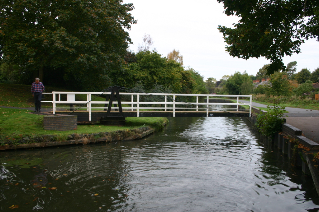 The first Saltway swing bridge