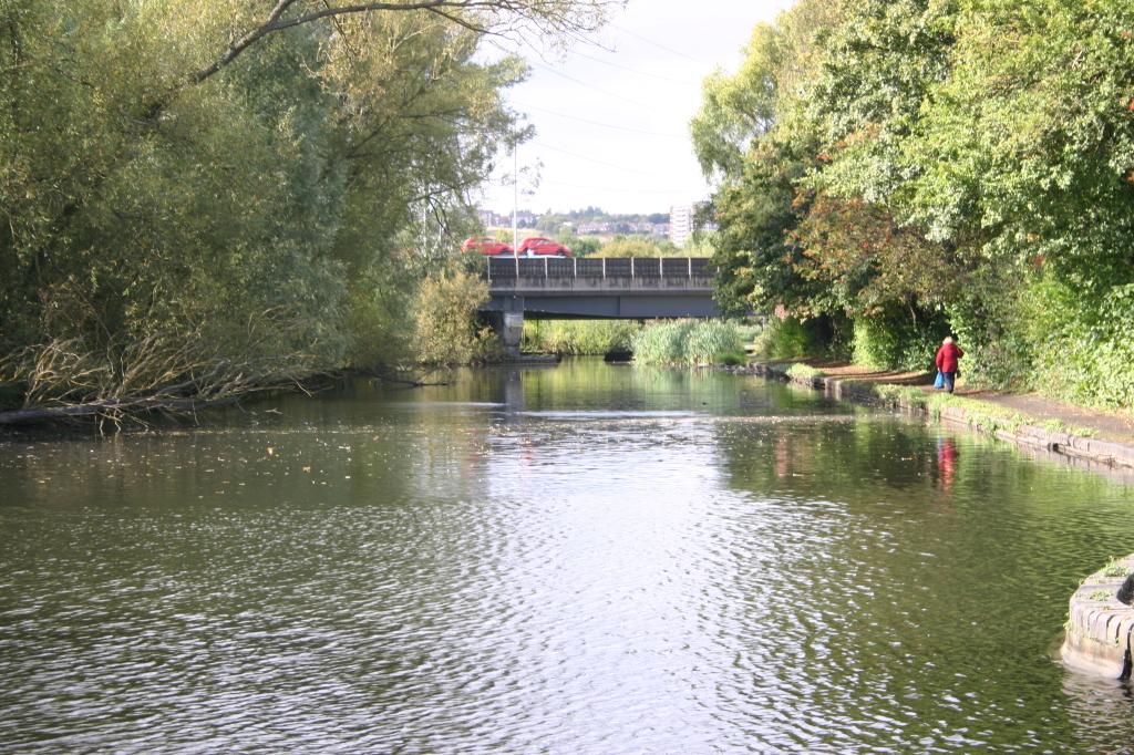 Titford Pools beyond the bridge