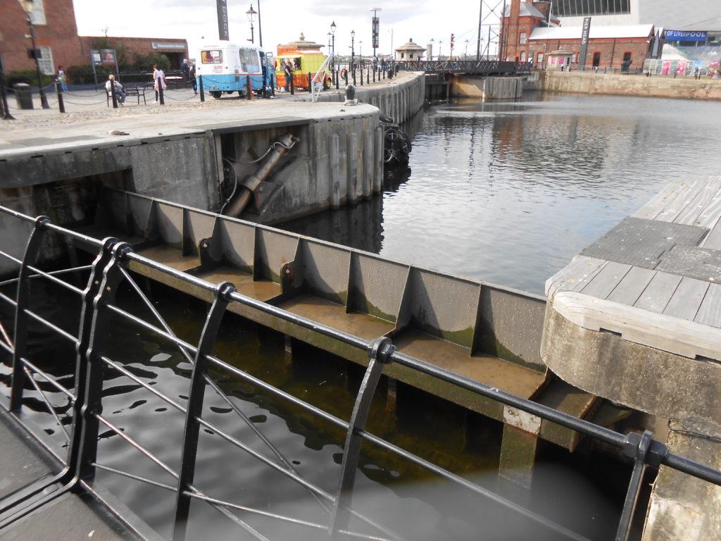 Dock gate closed
