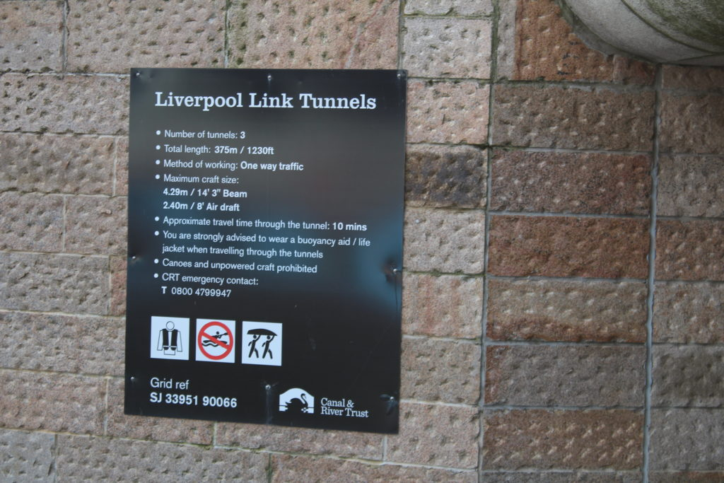 Tunnel Notice at Mann Island Basin