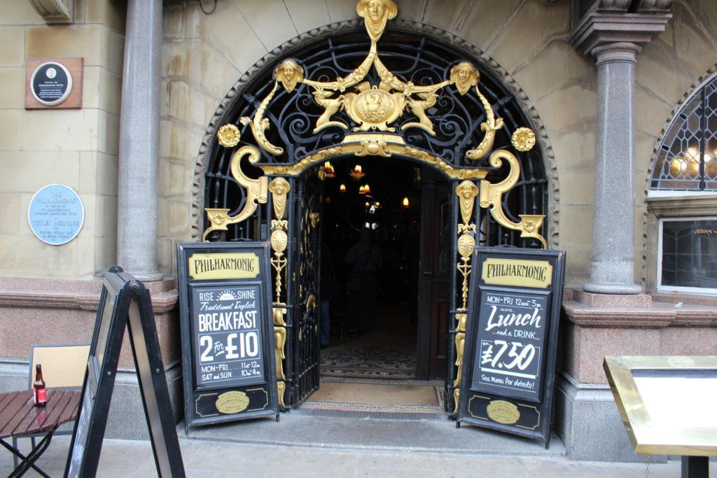 Philharmonic Dining Rooms - front door