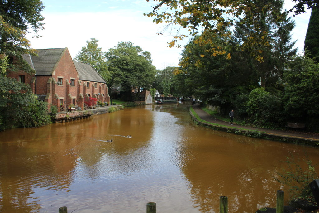 Looking down the canal from The Packet House