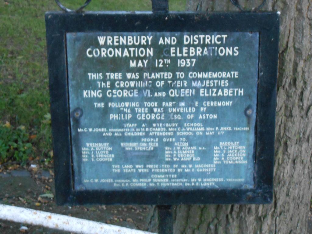 Plaque in Wrenbury