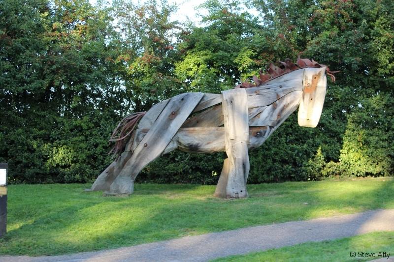 Wooden Horse sculpture Nantwich